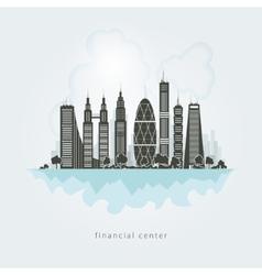 City financial center vector