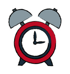 Clock alarm hour round bell time vector