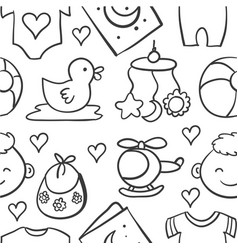 doodle of baby object style vector image