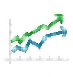Dot style chart vector