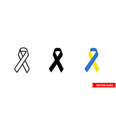 Down syndrome symbol icon 3 types color black vector