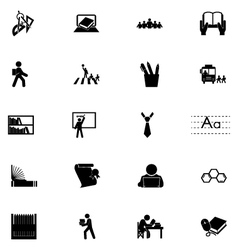 Education Solid Icons 4 vector