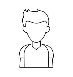 Faceless young man icon image vector