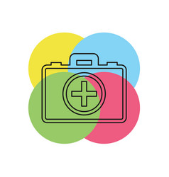 first aid bag icon - medical box vector image