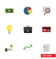 flat icon finance set of payment portfolio vector image