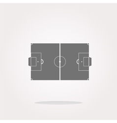 Football soccer field on web icon sport vector