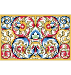 Fragment drawing orthodoxy pattern russia vector