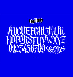 Full latin alphabet in gothic style letters vector