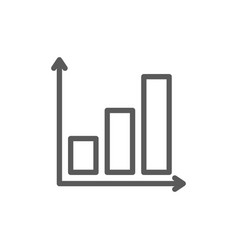 graph with growing chart line icon vector image