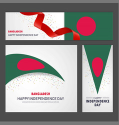 Happy bangladesh independence day banner and vector