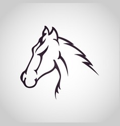 Horse logo icon design vector