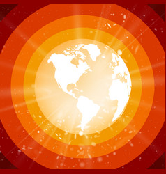 Internet concept of global business planet earth vector