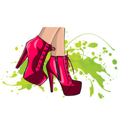 Legs with shoes high quality vector