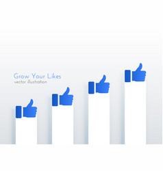 Like upward growth chart concept design vector