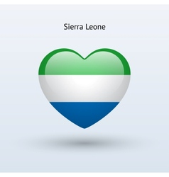 Love Sierra Leone symbol Heart flag icon vector image