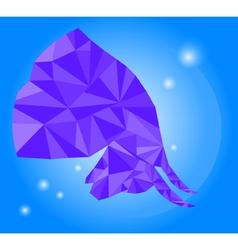 Low poly polygon bull vector