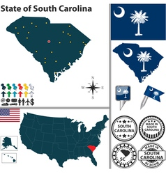 Map south carolina vector