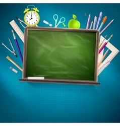 Modern school background EPS 10 vector image