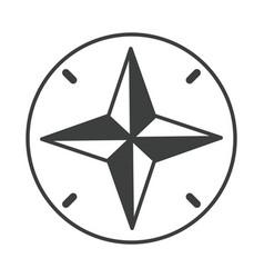 Navigational compass cartography equipment line vector