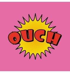 Ouch comic pop art style vector