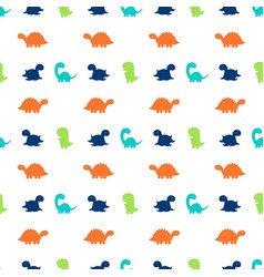 Pattern with dinosaurs vector