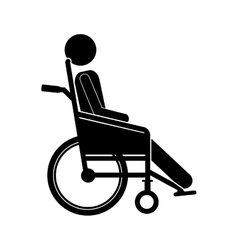 Person sitting wheelchair flat icon vector
