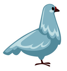 pigeon or dove isolated flying bird peace symbol vector image