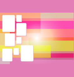 pink square abstract background vector image
