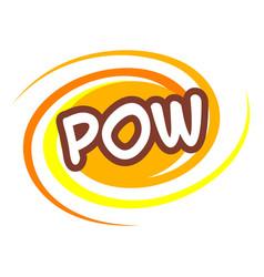 Pow icon pop art style vector