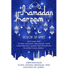 Ramadan kareem holiday greeting poster vector