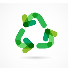 recycling icon and symbol vector image vector image