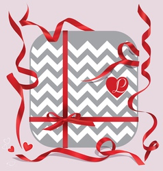Red ribbons set gift vector