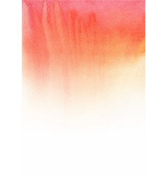 Red watercolor hand painting background vector