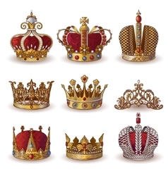 Royal Crowns Collection vector