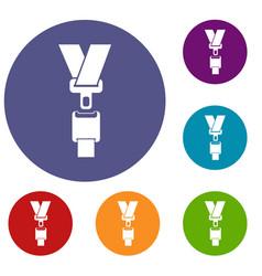safety belt icons set vector image