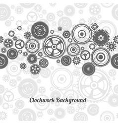 seamless gearwheel mechanism background vector image