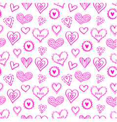 seamless hearts pattern-09 vector image
