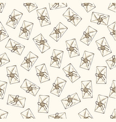 Seamless pattern with envelopes vector