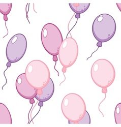 Seamless pattern with flying balloons vector