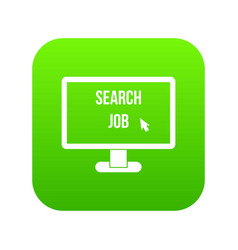 search job icon digital green vector image