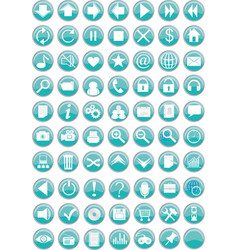 set of computer web buttons vector image