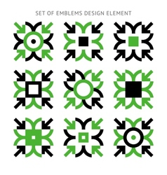 Set of emblems design element-02 vector image