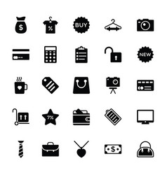 Shopping and commerce glyph icons 3 vector