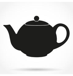 Silhouette symbol of classic teapot vector