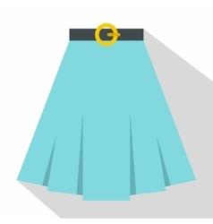 Skirt icon flat style vector