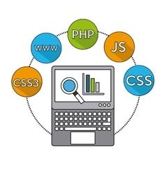 software programming language icons vector image