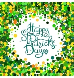 St patrick s day lettering vector