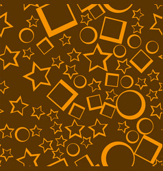 star seamless pattern yellow stars on dark vector image