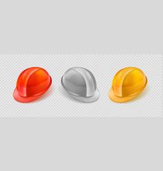 stock realistic set orange vector image
