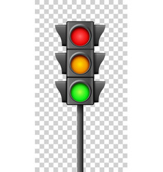 street traffic light icon lamp traffic light vector image